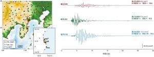 地図と加速度波形の例