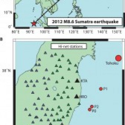 Cascading elastic perturbation in Japan due to the 2012 Mw 8.6 Indian Ocean earthquak