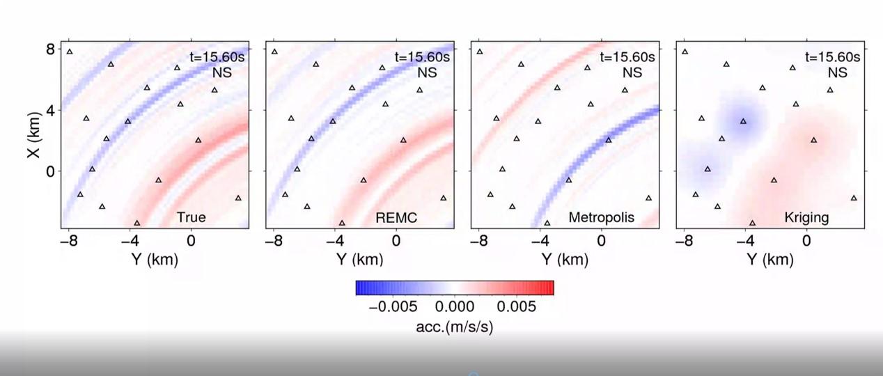 Seismic wavefield imaging based on the replica exchangeMonte Carlo method