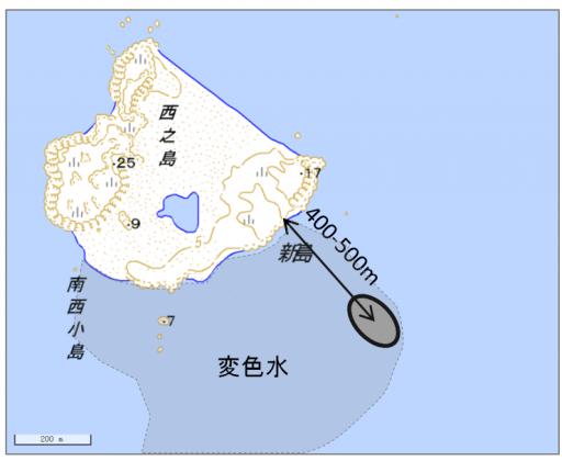 図1. 2013年活動域の位置