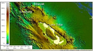 Fig. 1. Index map of Sinabung volcano, Northern Sumatra, Indonesia.