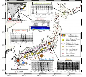 Triggered Tectonic Tremor in Various Types of Fault Systems of Japan Following the 2012 Mw8.6 Sumatra Earthquake