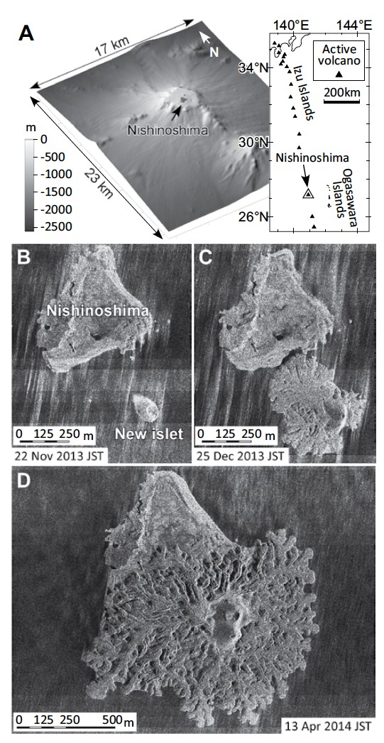 Morphological evolution of a new volcanic islet sustained by compound lava flows