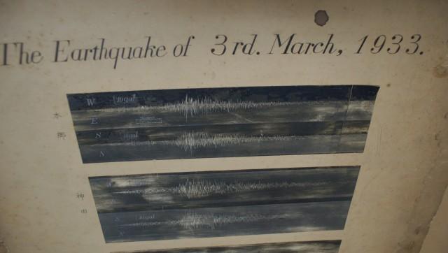1933年昭和三陸地震の地震波記録