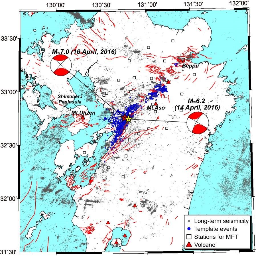 2016年熊本地震の本震発生前に見られた前震域の拡大