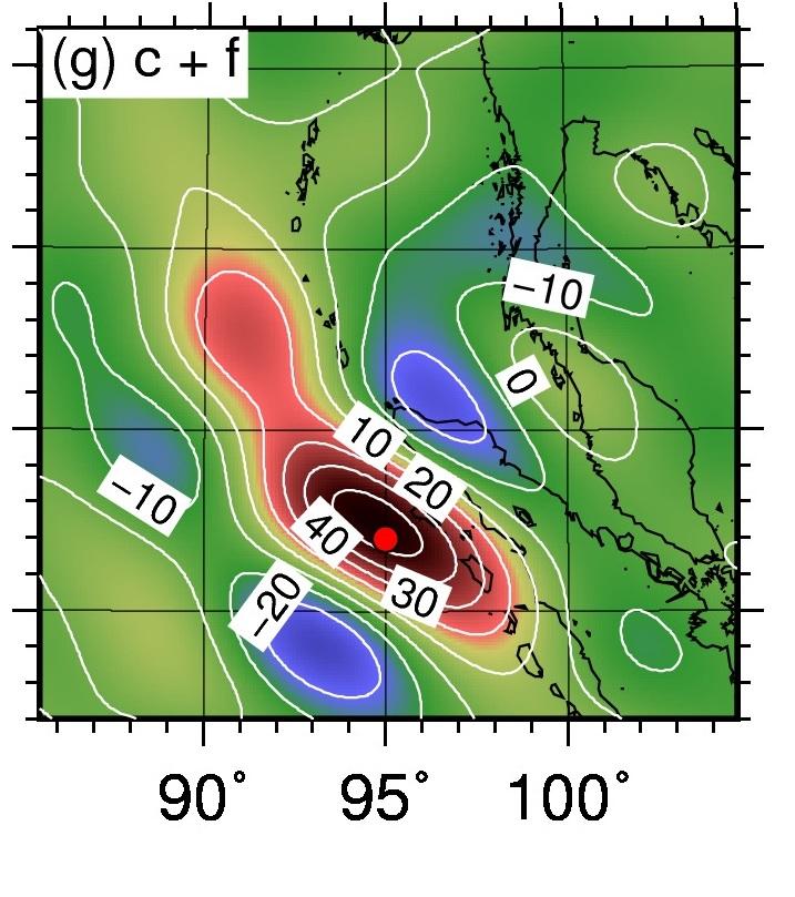 2004年スマトラ地震(Mw9.2)と2012年インド洋地震(Mw8.6)が引き起こした長期的な重力やジオイド高の変化と海水面の高度変化