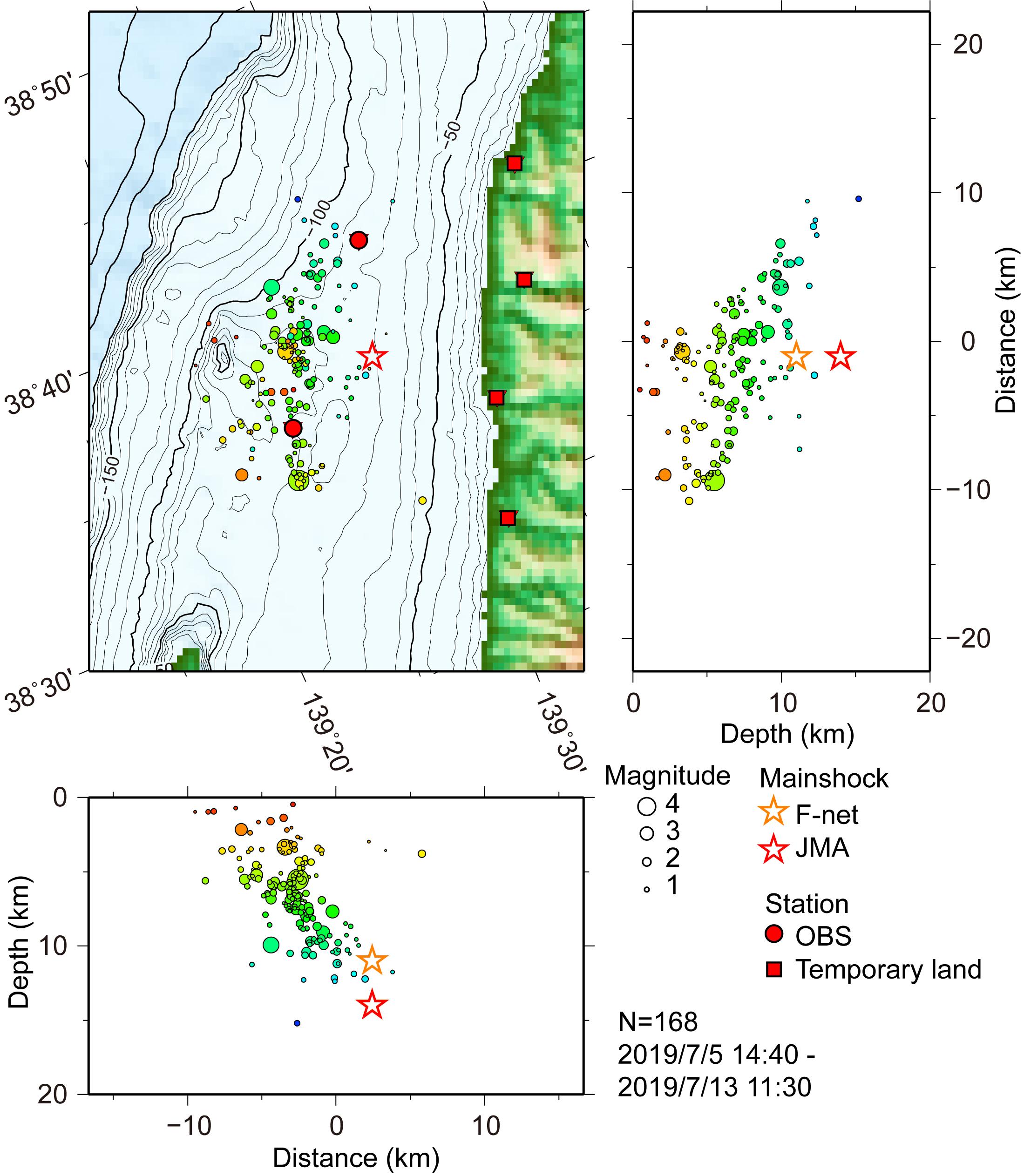 【研究速報+臨時観測結果】6月18日22時22分頃の山形県沖の地震