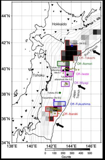 北海道・東北地方太平洋沖における、超低周波地震の網羅的検出